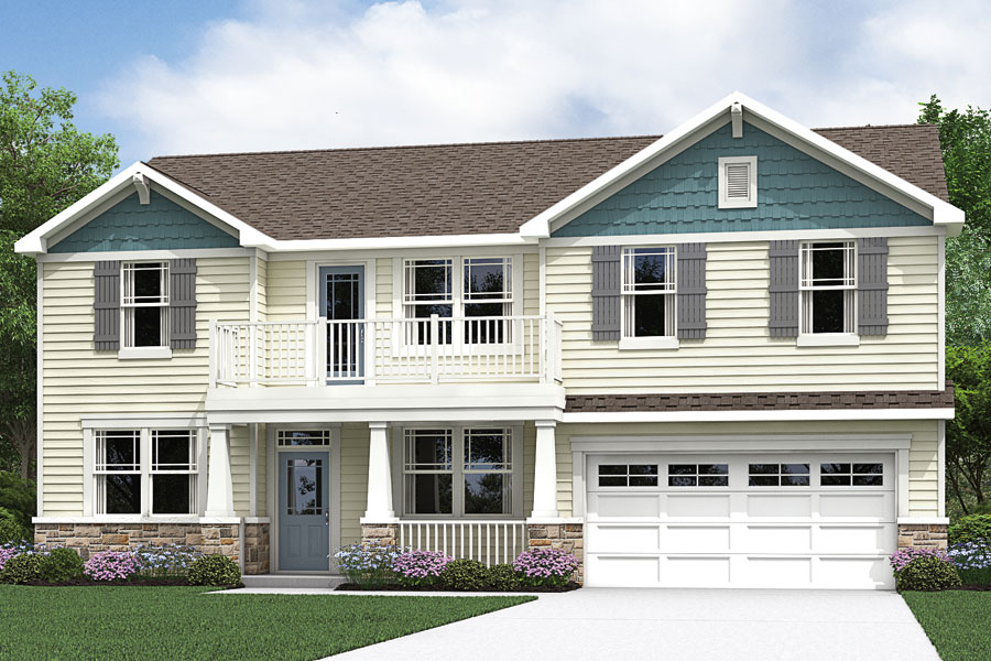 Reese Plan Elevation Front at Oak Park in Garner North Carolina by Mattamy Homes