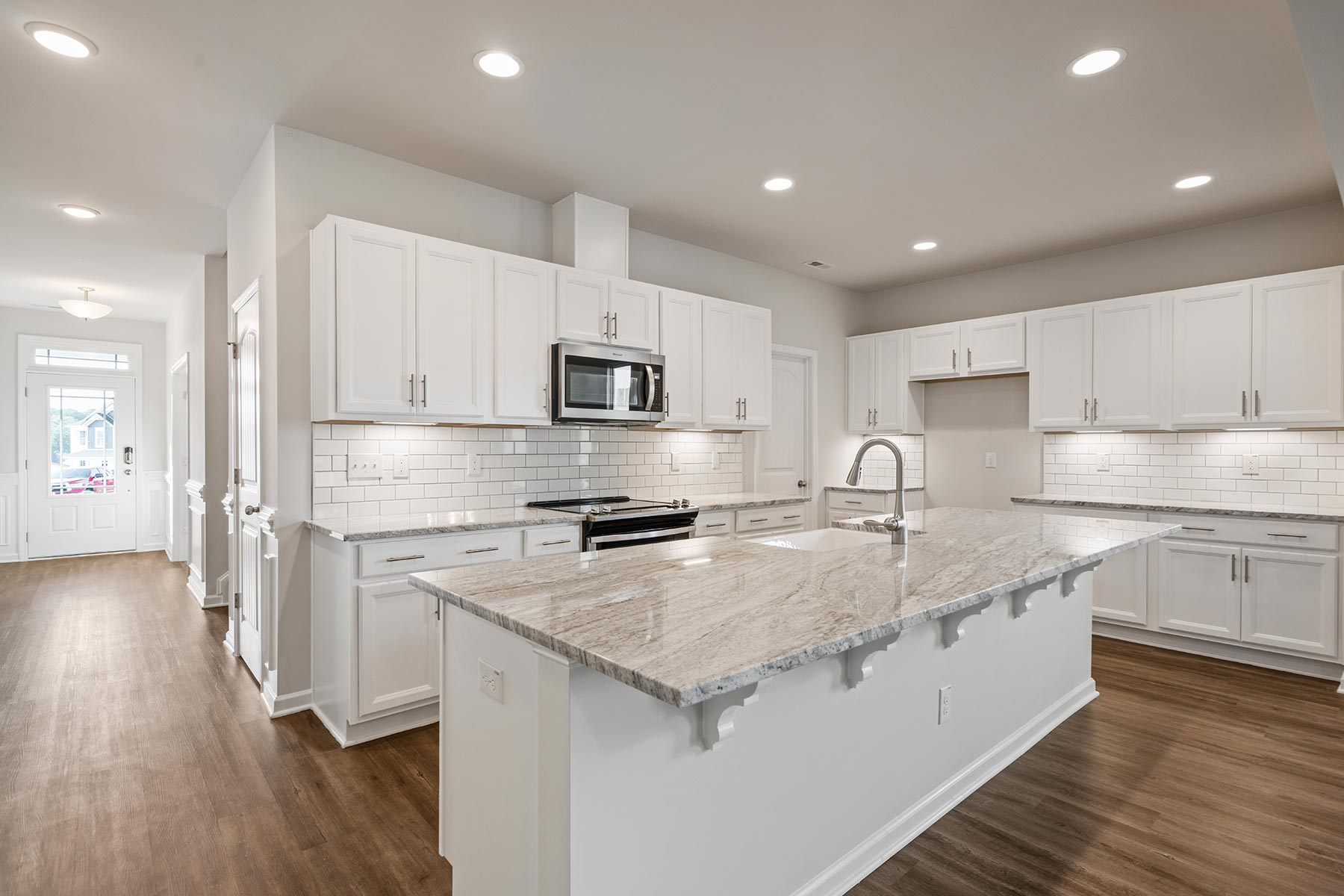 Harper Plan Kitchen at Oak Park in Garner North Carolina by Mattamy Homes