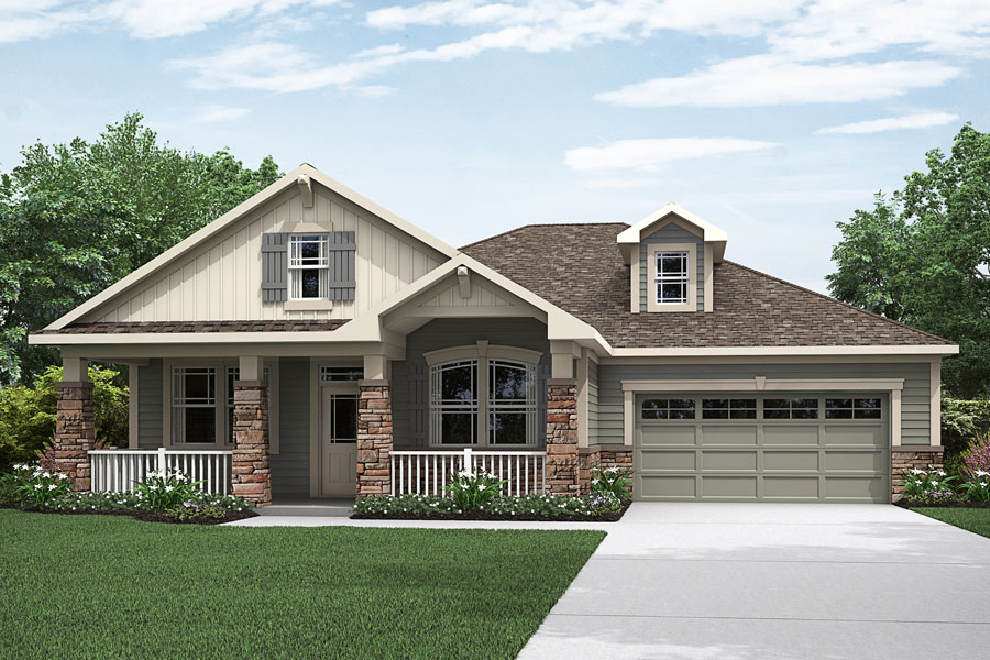 Abbott Plan Elevation Front at Portofino in Clayton North Carolina by Mattamy Homes