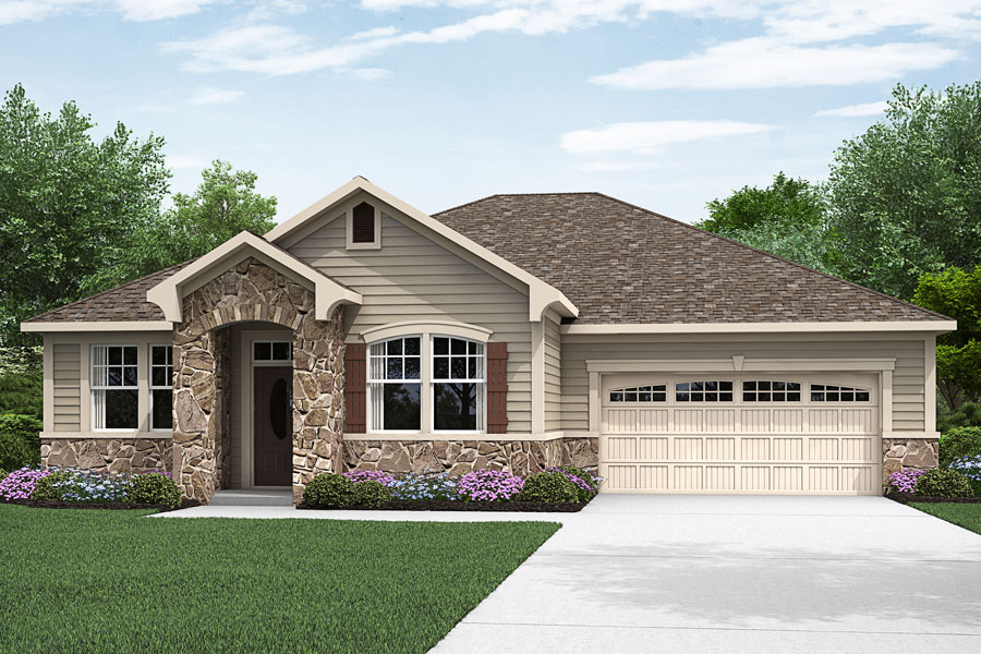 Ethan II Plan Elevation Front at Portofino in Clayton North Carolina by Mattamy Homes