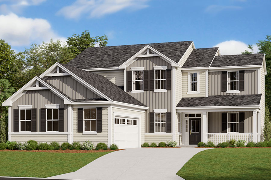 Kendrick Plan Elevation Front at Portofino in Clayton North Carolina by Mattamy Homes