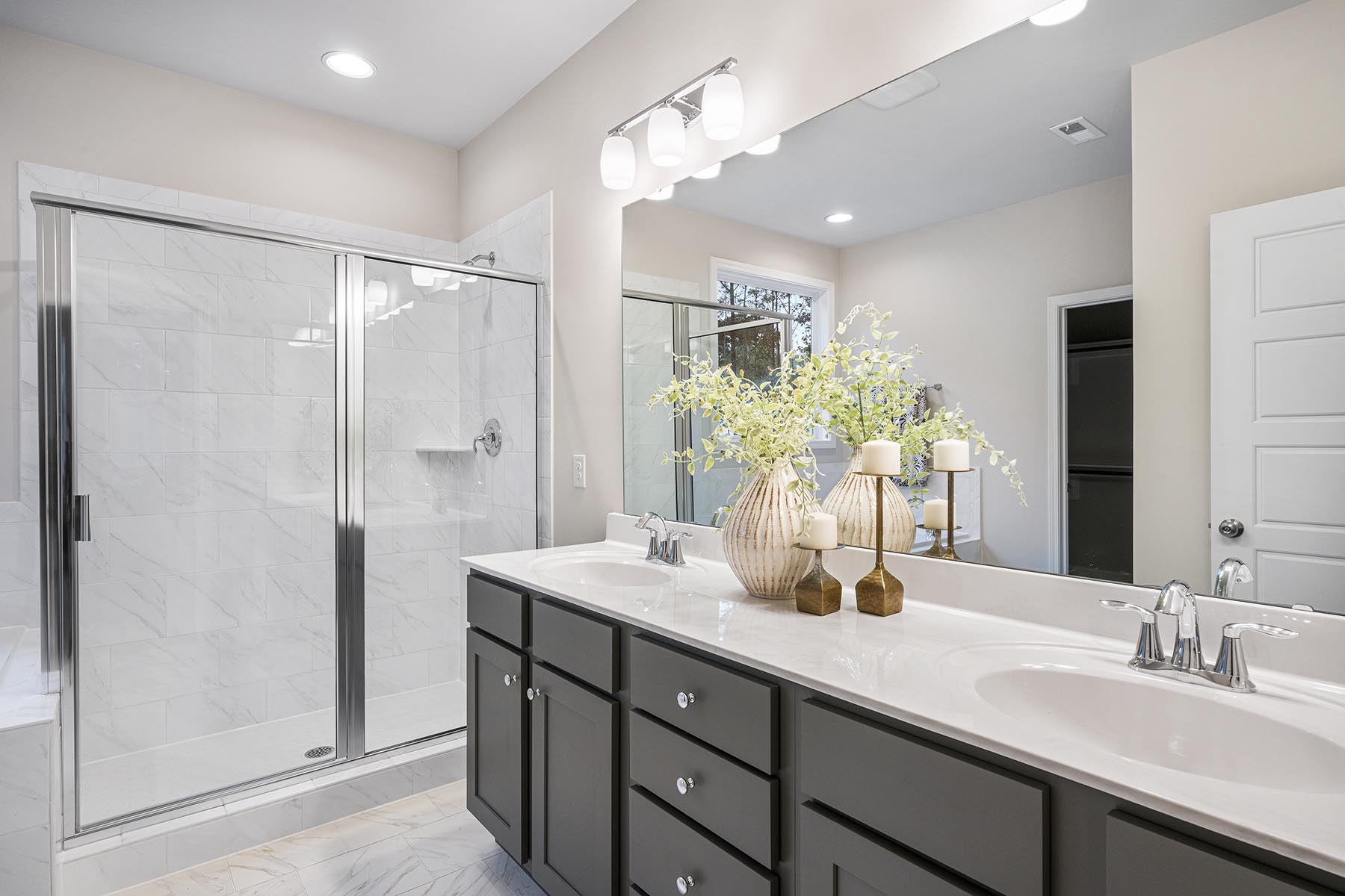 Kendrick Plan Bathroom_Master Bath at Portofino in Clayton North Carolina by Mattamy Homes