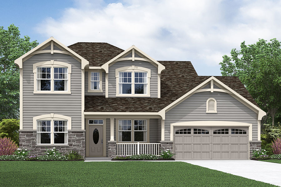Larkin Plan Elevation Front at Portofino in Clayton North Carolina by Mattamy Homes