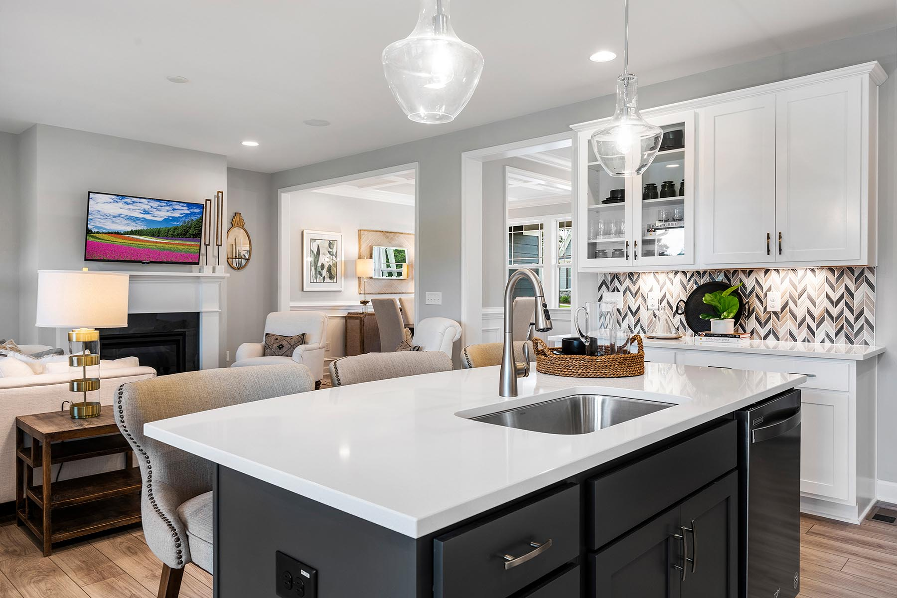 Larkin Plan Kitchen at Portofino in Clayton North Carolina by Mattamy Homes