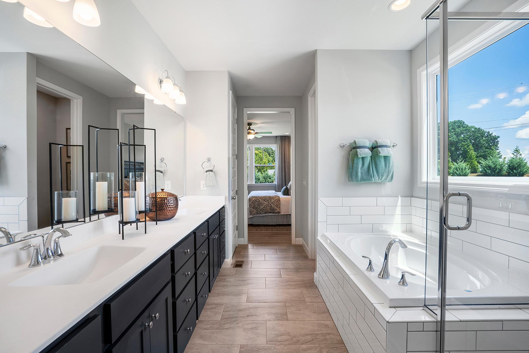 Larkin Plan Bathroom_Master Bath at Portofino in Clayton North Carolina by Mattamy Homes