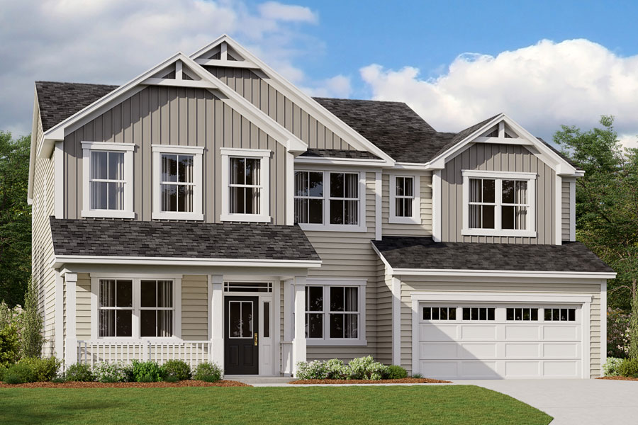 Mitchell Plan Elevation Front at Portofino in Clayton North Carolina by Mattamy Homes