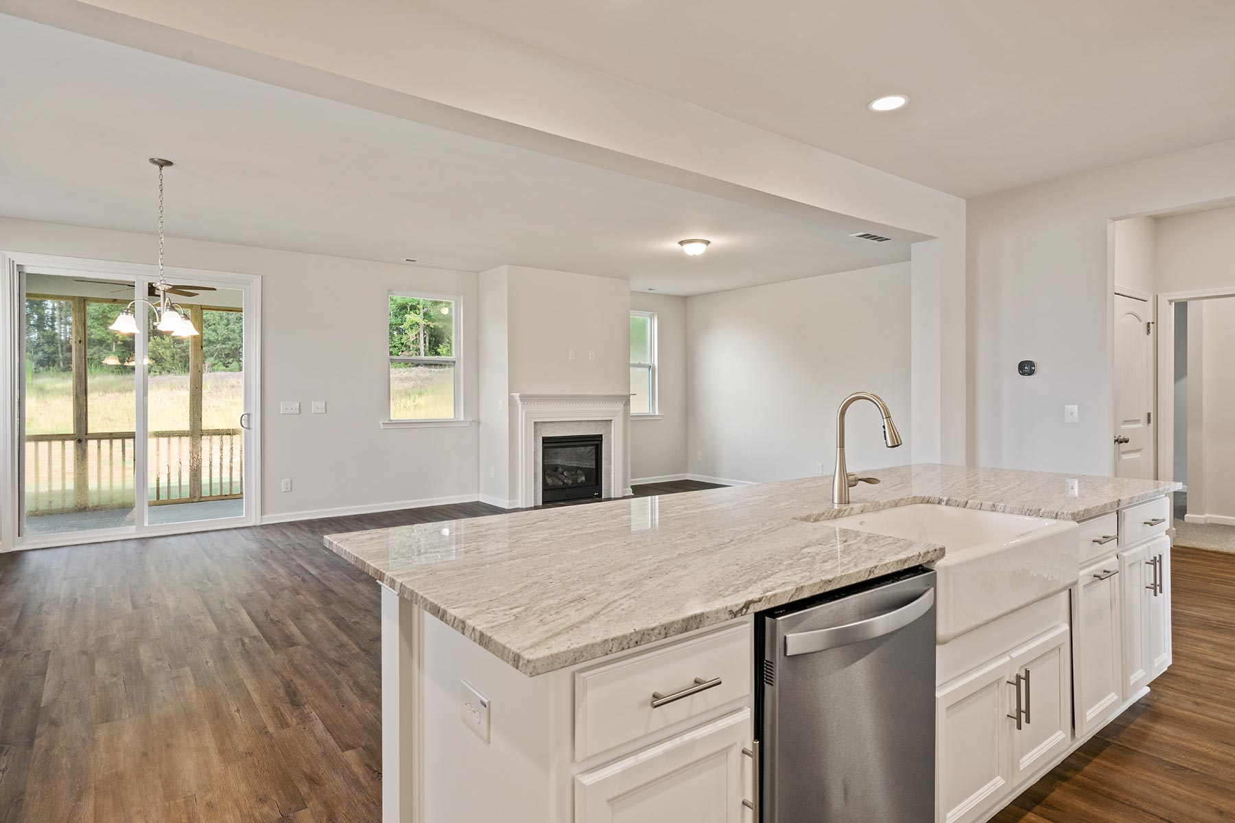 Winston Plan Kitchen at Ballentine Place in Holly Springs North Carolina by Mattamy Homes