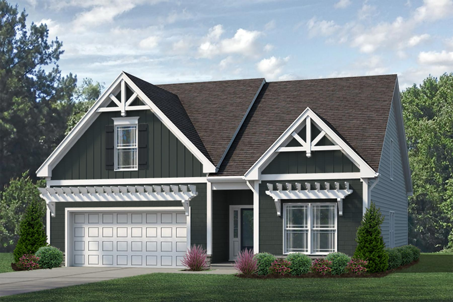 Camden Plan Elevation Front at Wendell Falls in Wendell North Carolina by Mattamy Homes