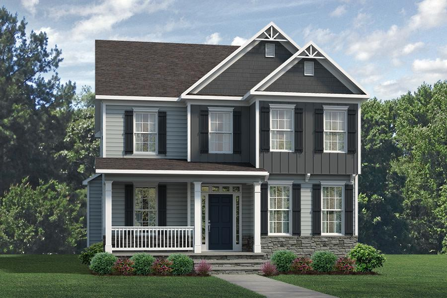 Amelia Plan Elevation Front at Wendell Falls in Wendell North Carolina by Mattamy Homes