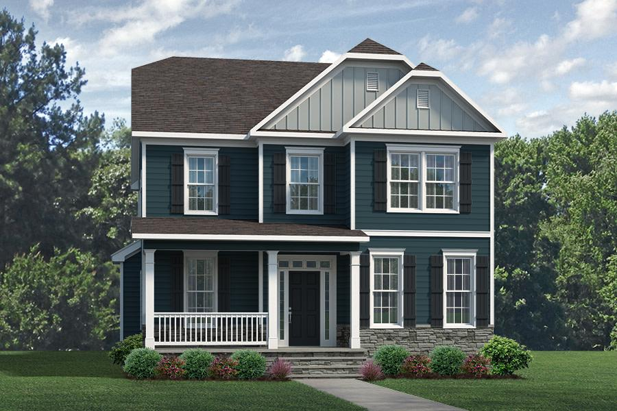 Carlisle Plan Elevation Front at Wendell Falls in Wendell North Carolina by Mattamy Homes