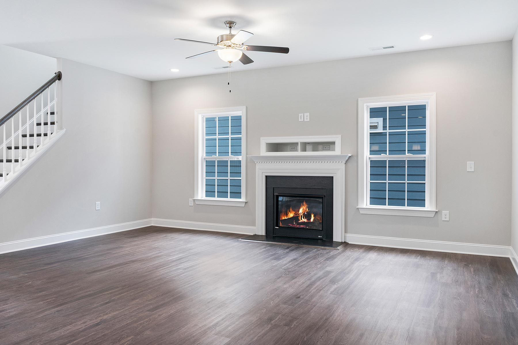 Carlisle Plan Greatroom at Wendell Falls in Wendell North Carolina by Mattamy Homes