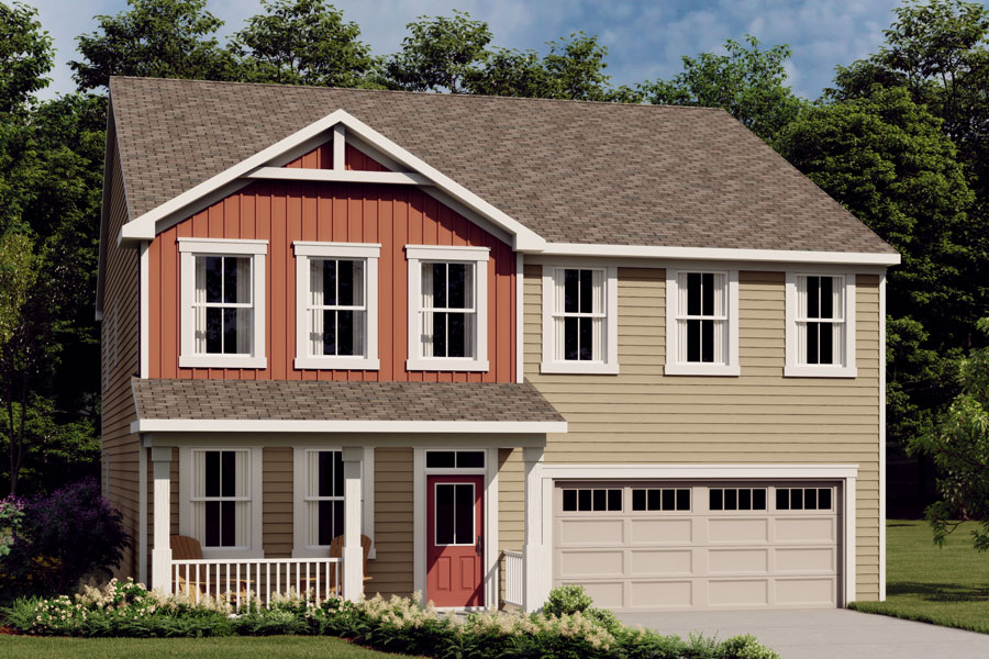 Crosby Plan Elevation Front at Wendell Falls in Wendell North Carolina by Mattamy Homes