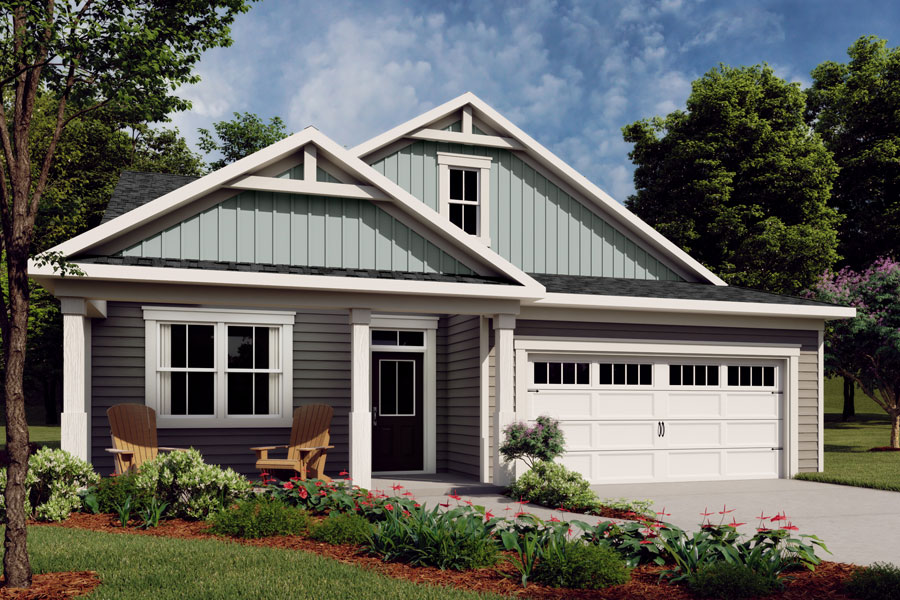 Evelyn Plan Elevation Front at Wendell Falls in Wendell North Carolina by Mattamy Homes
