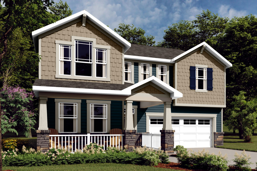 Gaines Plan Elevation Front at Wendell Falls in Wendell North Carolina by Mattamy Homes