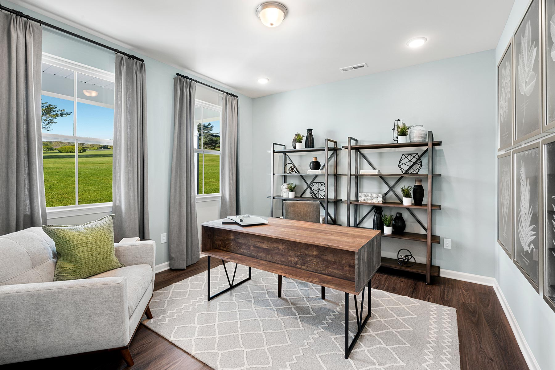 Gaines Plan Study Room at Wendell Falls in Wendell North Carolina by Mattamy Homes
