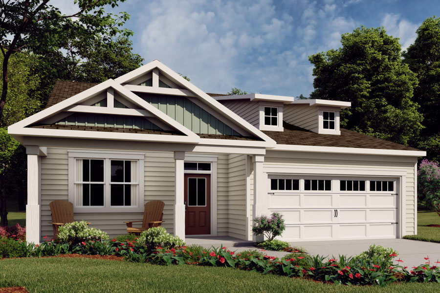 Harrison Plan Elevation Front at Wendell Falls in Wendell North Carolina by Mattamy Homes
