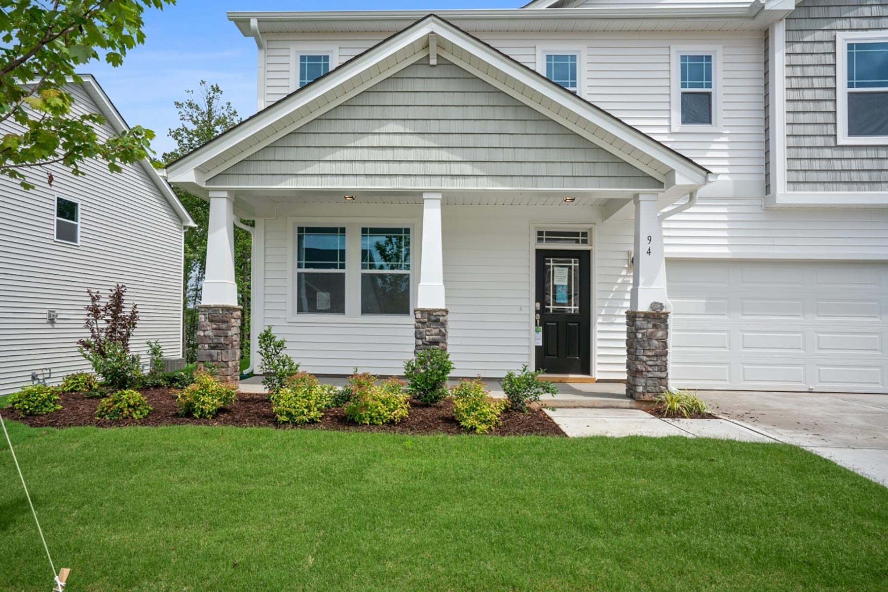 Logan Plan Elevation Front at Wendell Falls in Wendell North Carolina by Mattamy Homes