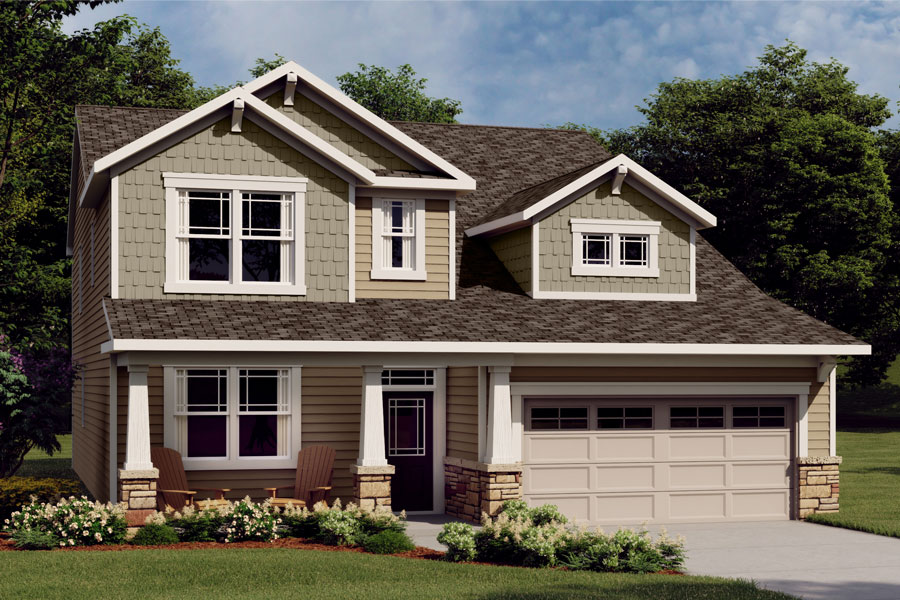 Nolan Plan Elevation Front at Wendell Falls in Wendell North Carolina by Mattamy Homes