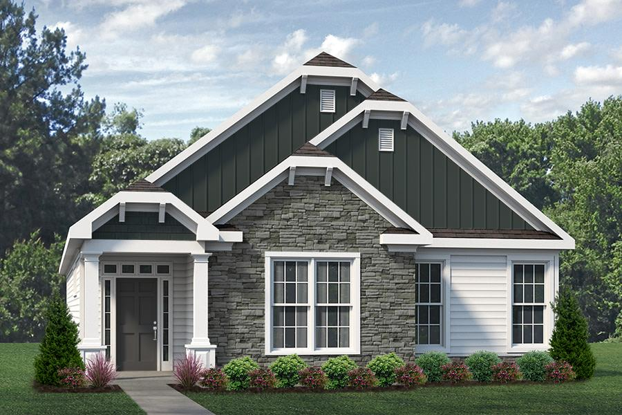 Tucker Plan Elevation Front at Wendell Falls in Wendell North Carolina by Mattamy Homes
