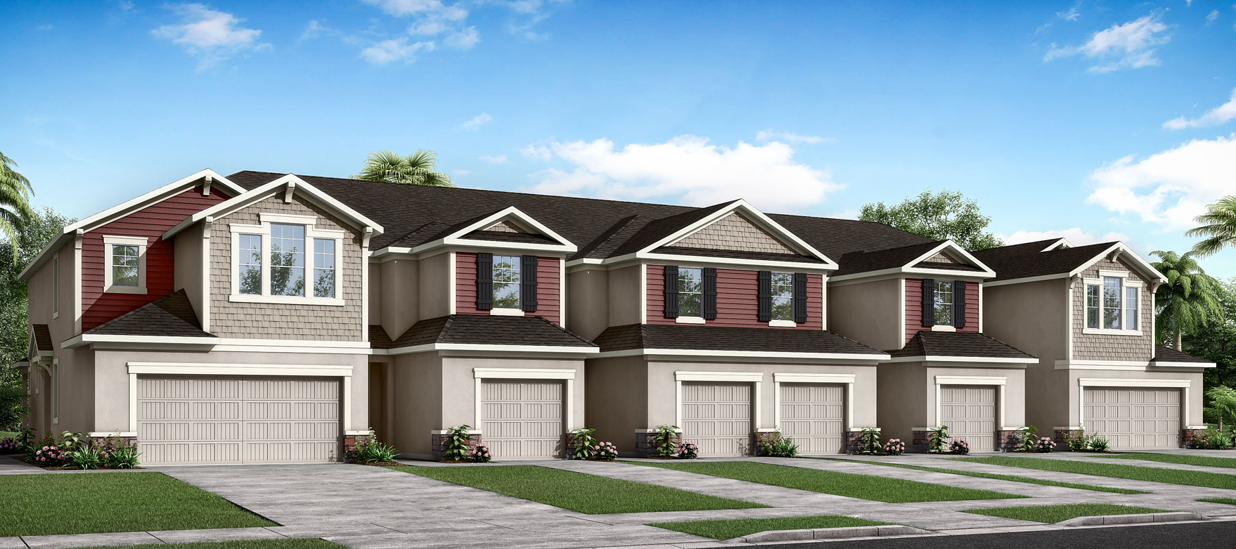 Seaside II End Plan TownHomes at Harmony at Lakewood Ranch in Lakewood Ranch Florida by Mattamy Homes