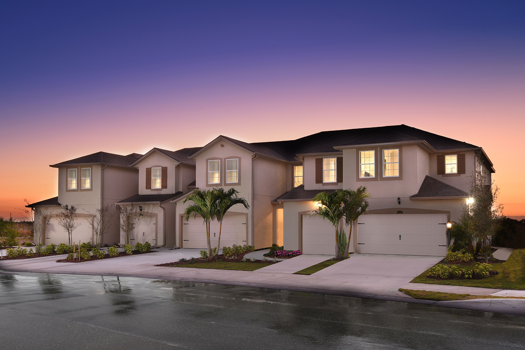 Seaside II End Plan Elevation Front at Harmony at Lakewood Ranch in Lakewood Ranch Florida by Mattamy Homes