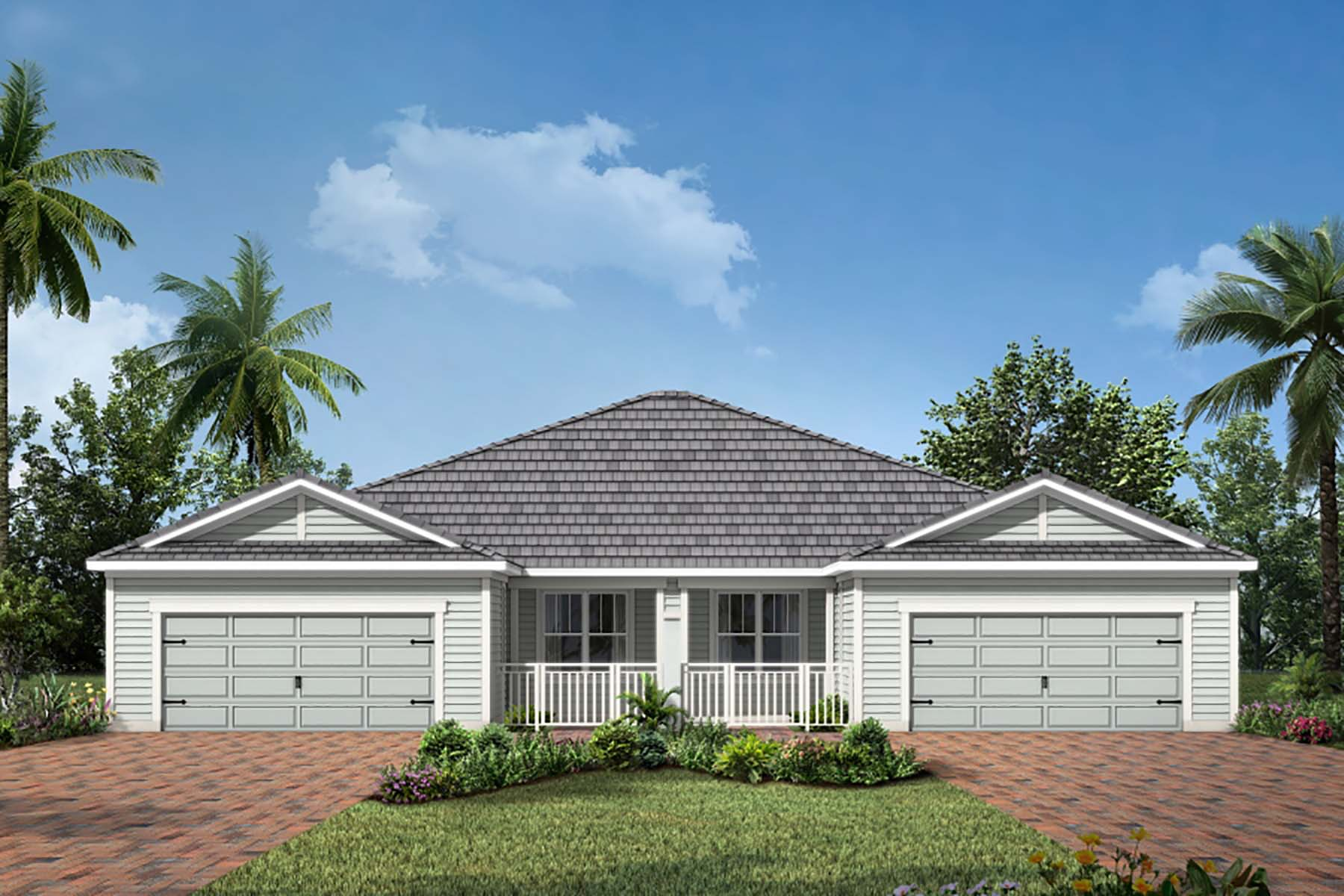 Bayport Plan Elevation Front at Sunrise Preserve at Palmer Ranch in Sarasota Florida by Mattamy Homes