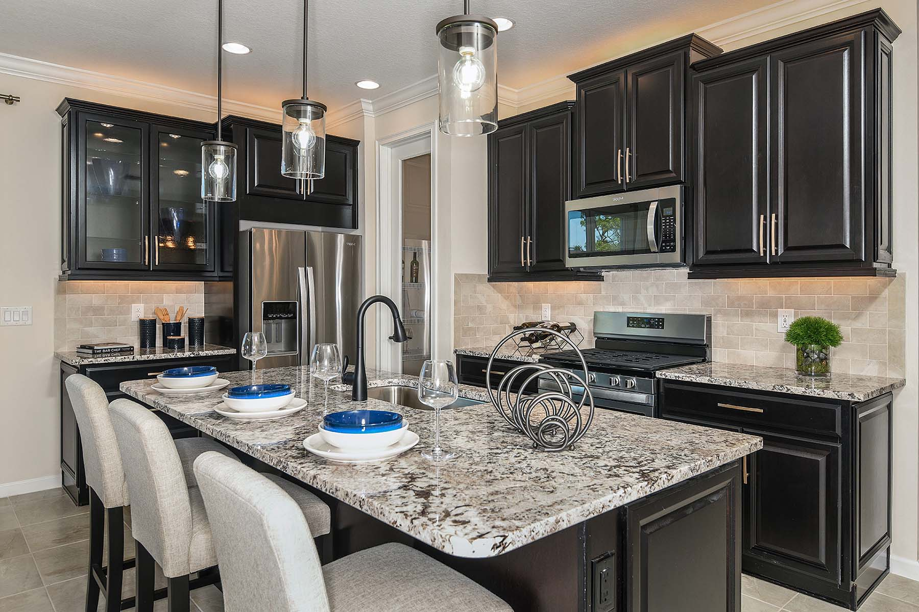 Bayport Plan Kitchen at Sunrise Preserve at Palmer Ranch in Sarasota Florida by Mattamy Homes