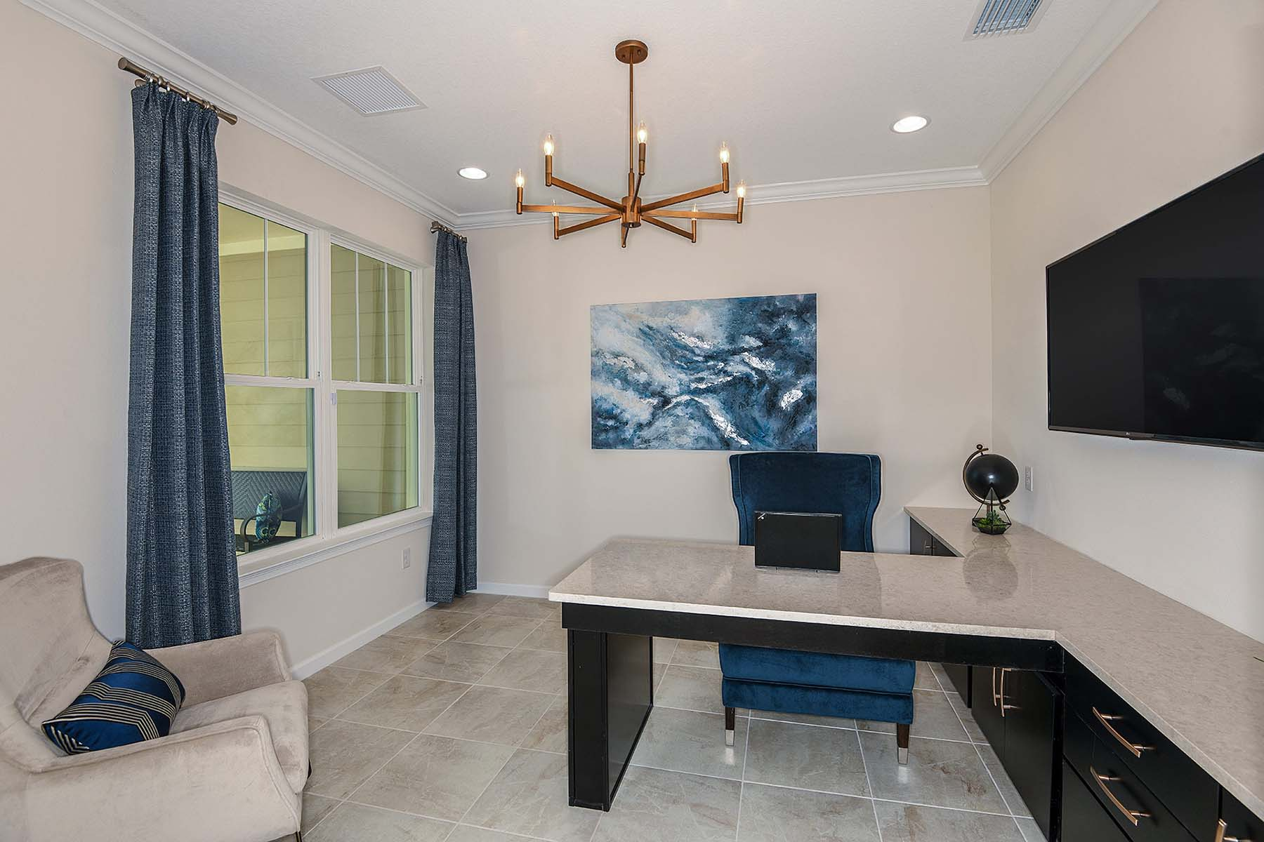 Bayport Plan Study Room at Sunrise Preserve at Palmer Ranch in Sarasota Florida by Mattamy Homes