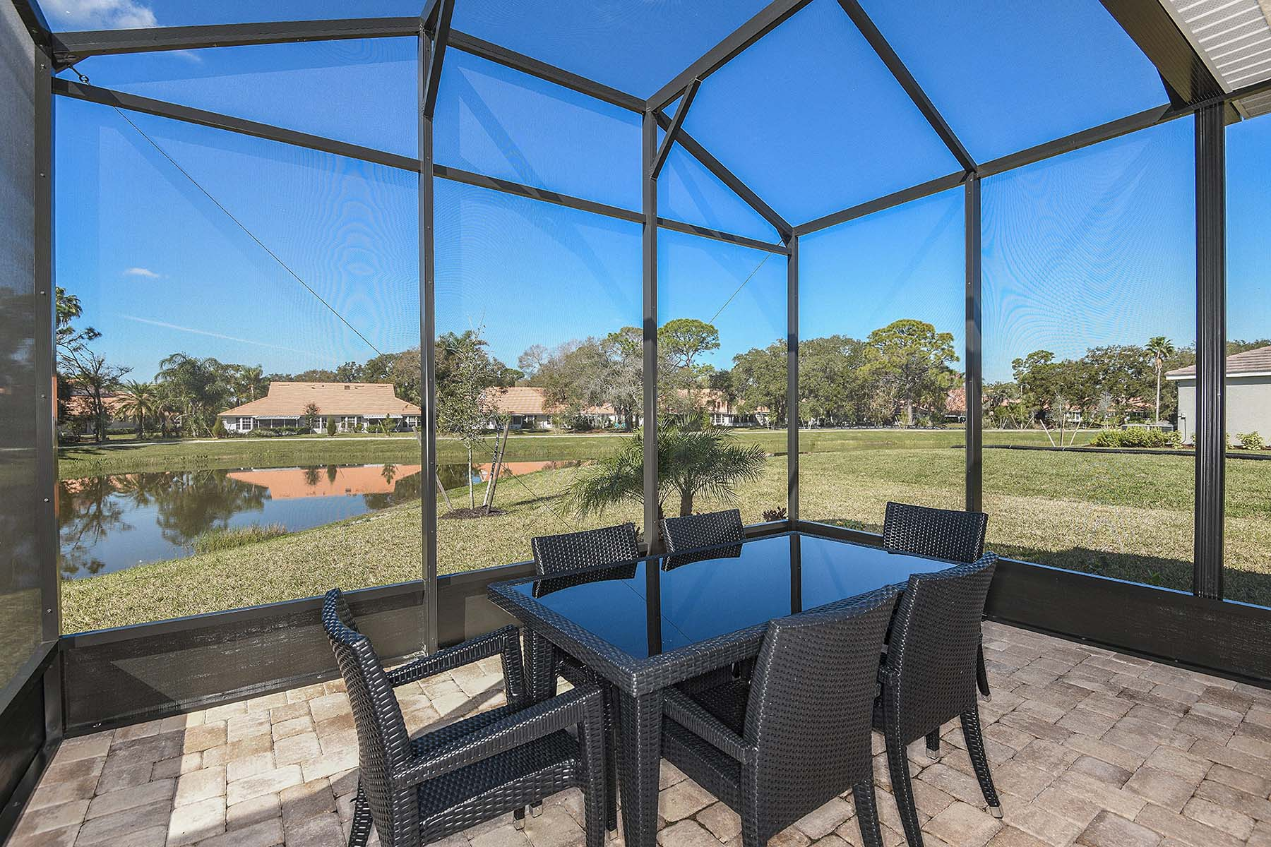 Bayport Plan Patio at Sunrise Preserve at Palmer Ranch in Sarasota Florida by Mattamy Homes