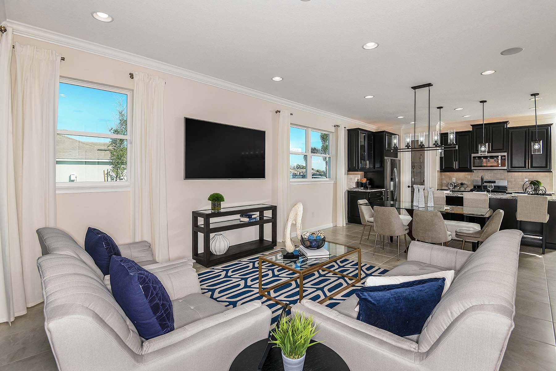 Bayport Plan Greatroom at Sunrise Preserve at Palmer Ranch in Sarasota Florida by Mattamy Homes