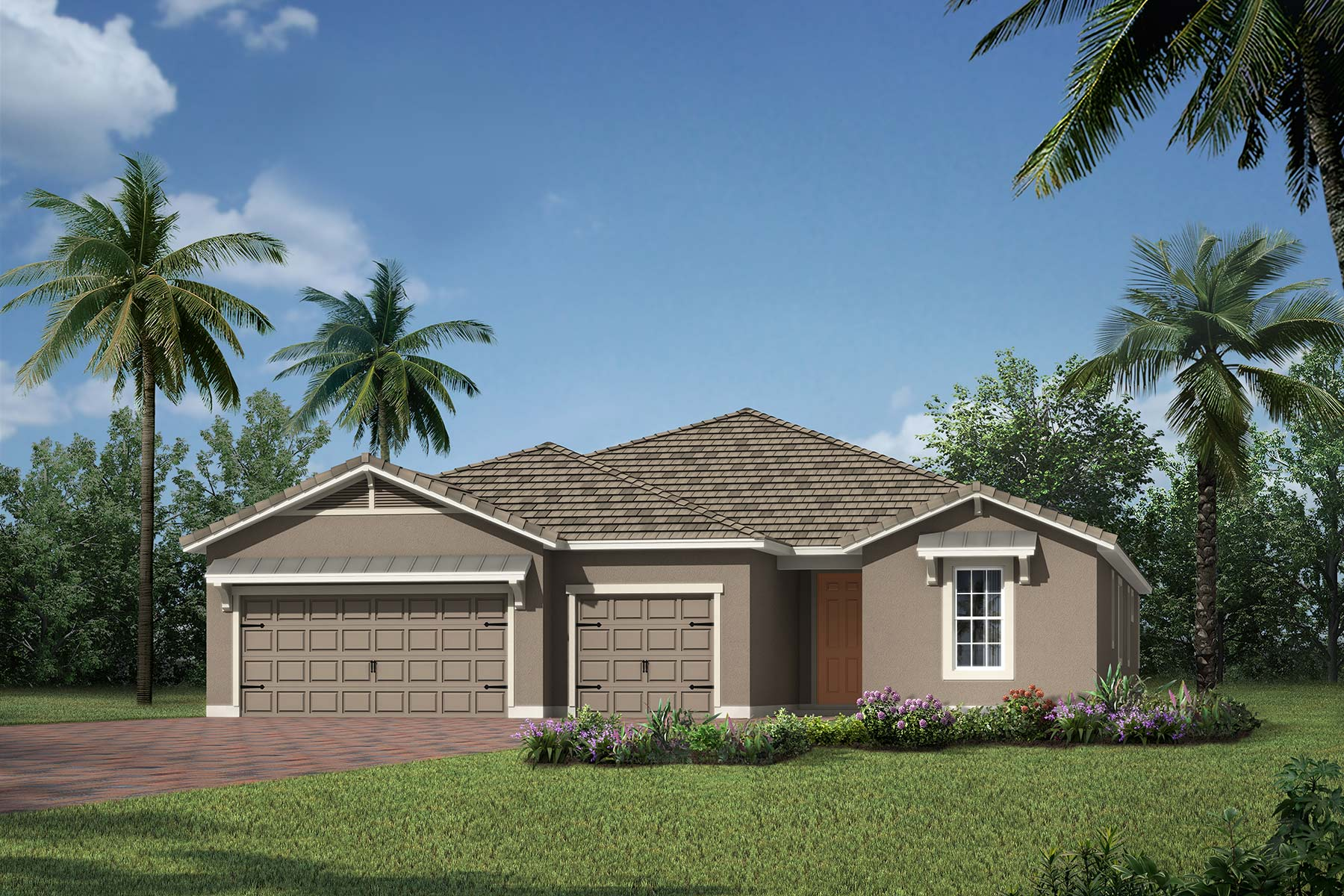 Jubilee Plan Elevation Front at Sunrise Preserve at Palmer Ranch in Sarasota Florida by Mattamy Homes
