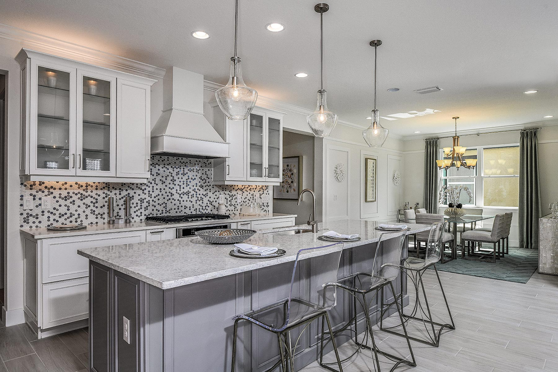 Jubilee Plan Kitchen at Sunrise Preserve at Palmer Ranch in Sarasota Florida by Mattamy Homes