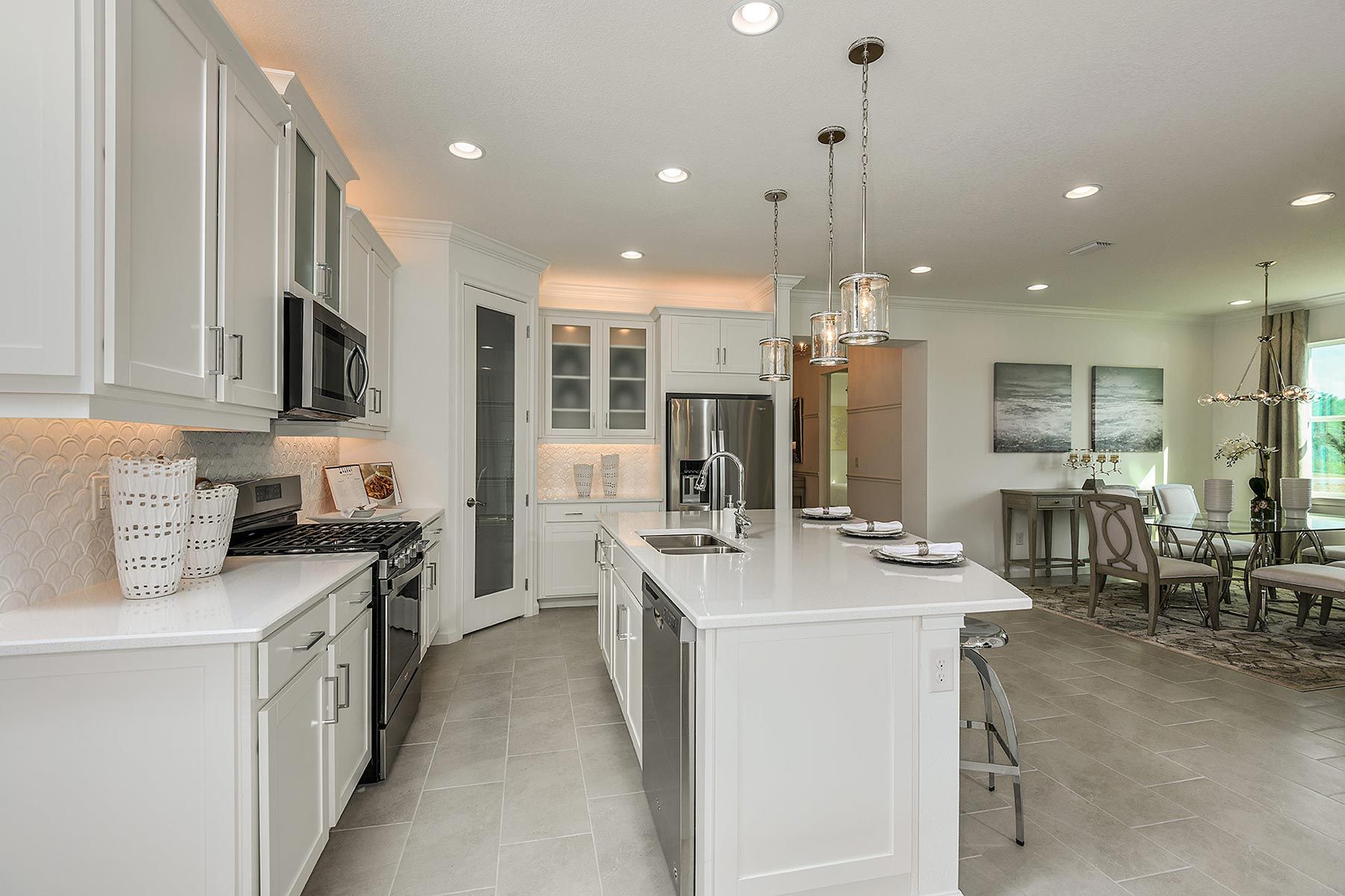 Seascape Plan Kitchen at Sunrise Preserve at Palmer Ranch in Sarasota Florida by Mattamy Homes