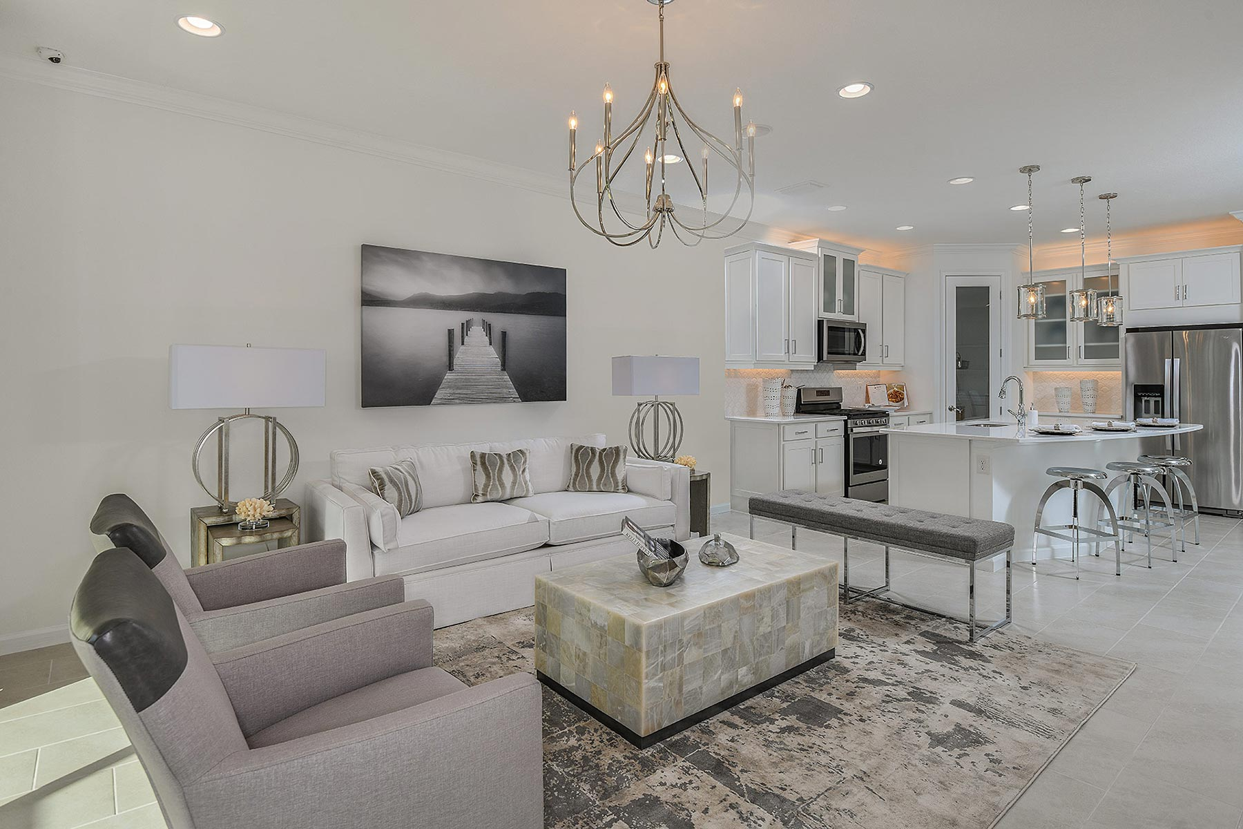 Seascape Plan Greatroom at Sunrise Preserve at Palmer Ranch in Sarasota Florida by Mattamy Homes