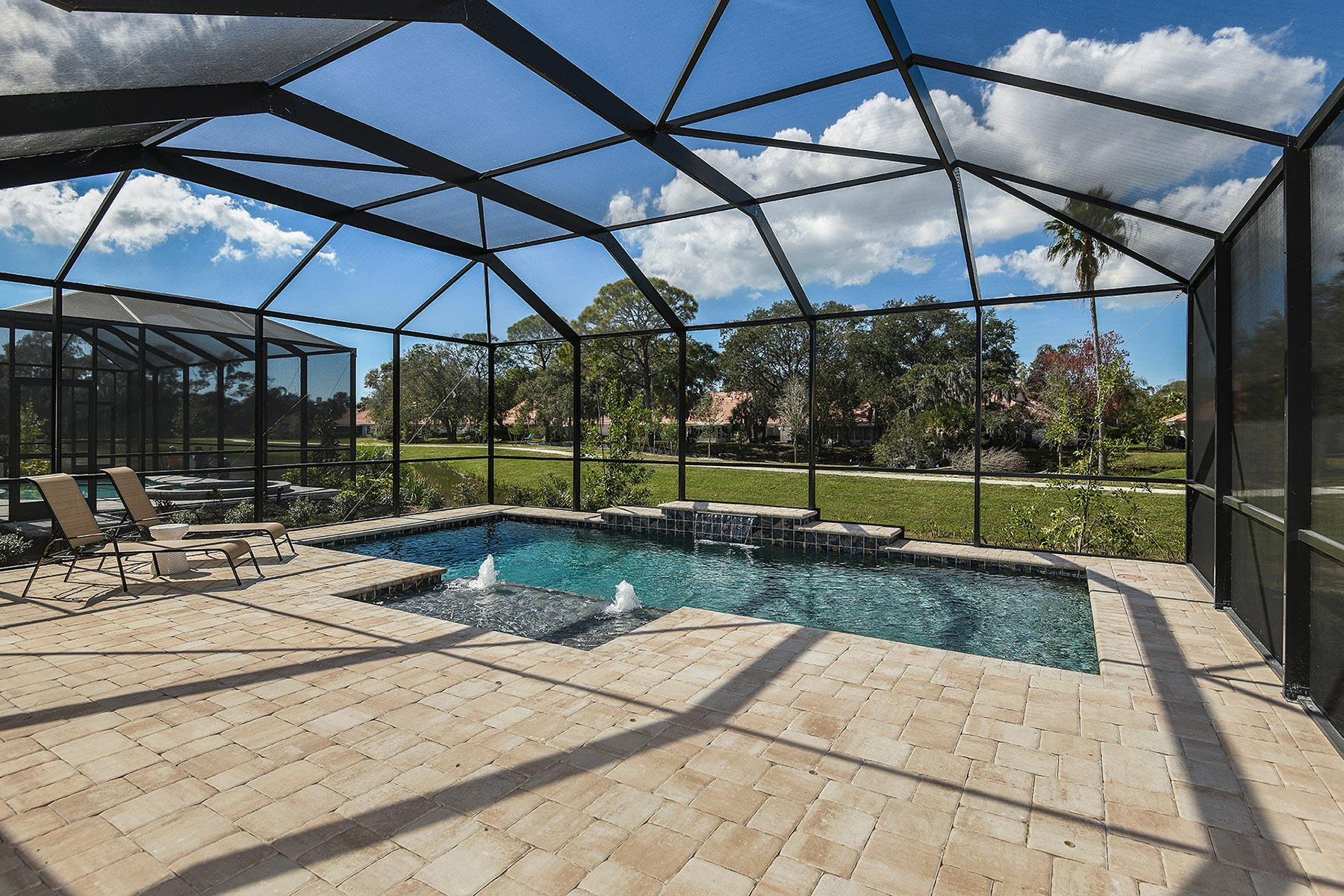 Sunlit Plan WaterFeatures at Sunrise Preserve at Palmer Ranch in Sarasota Florida by Mattamy Homes
