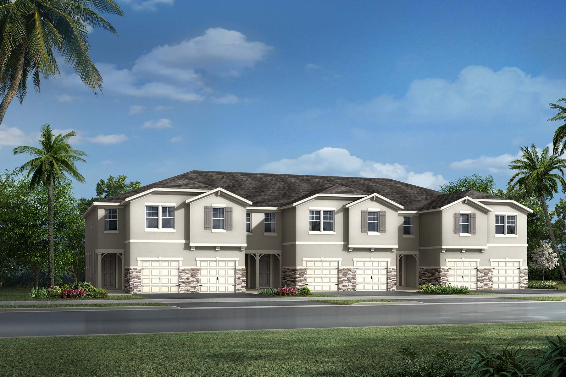 Marianna Plan TownHomes at Avea Pointe in Lutz Florida by Mattamy Homes