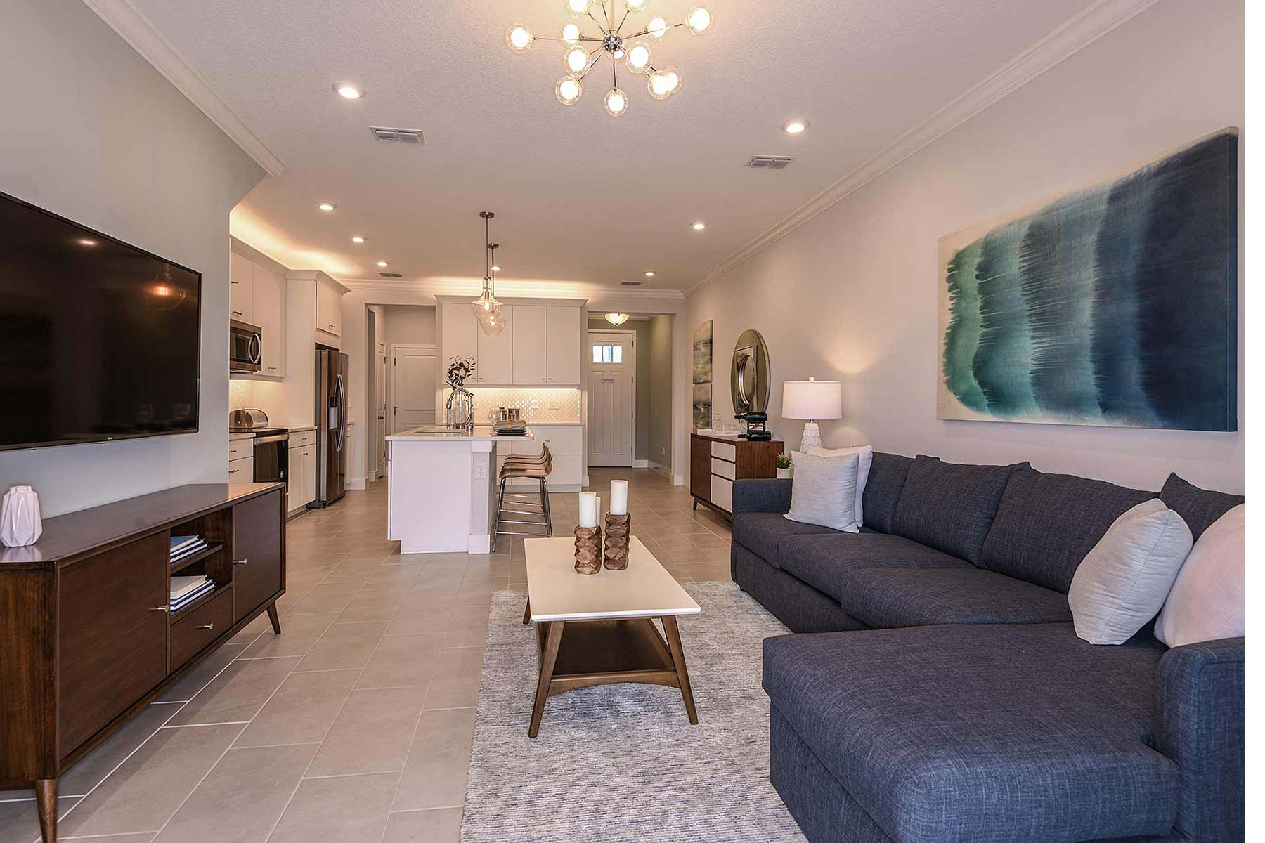Marianna Plan Greatroom at Avea Pointe in Lutz Florida by Mattamy Homes