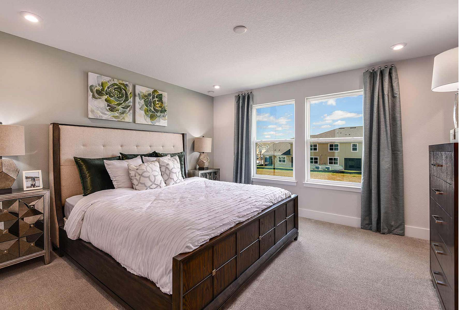 Marianna Plan Bedroom at Avea Pointe in Lutz Florida by Mattamy Homes