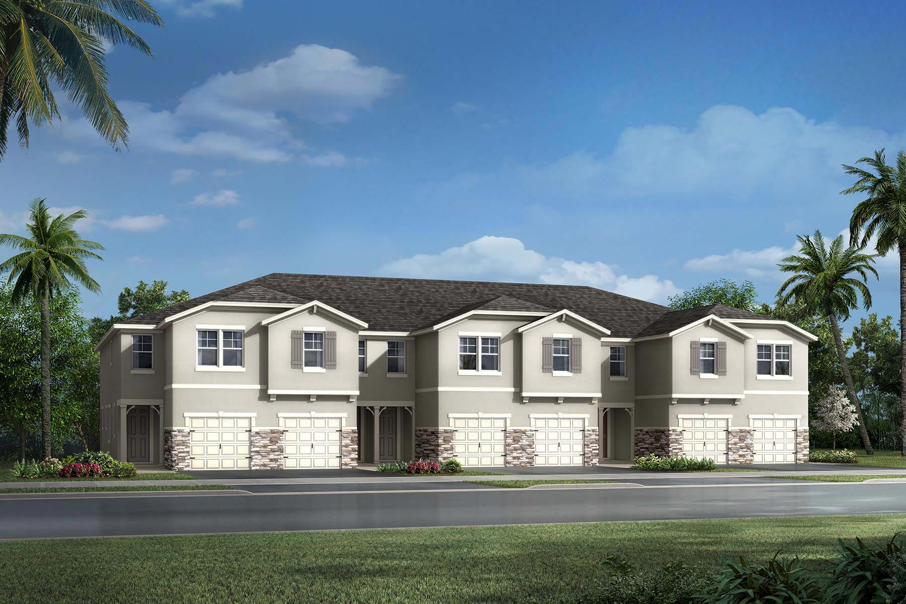 Ormond Plan TownHomes at Avea Pointe in Lutz Florida by Mattamy Homes