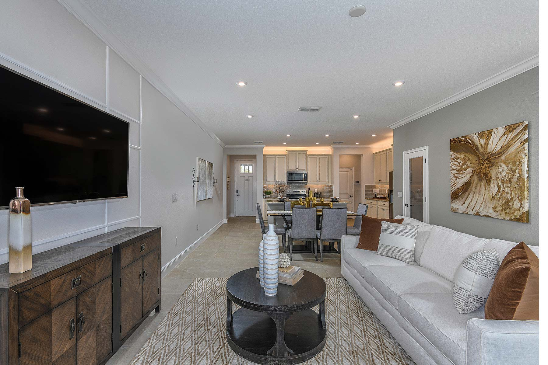 Ormond Plan Greatroom at Volanti in Wesley Chapel Florida by Mattamy Homes