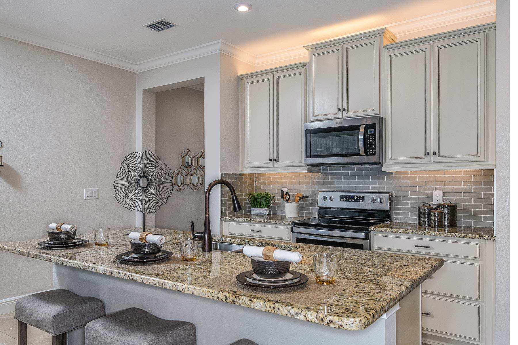 Ormond Plan Kitchen at Volanti in Wesley Chapel Florida by Mattamy Homes