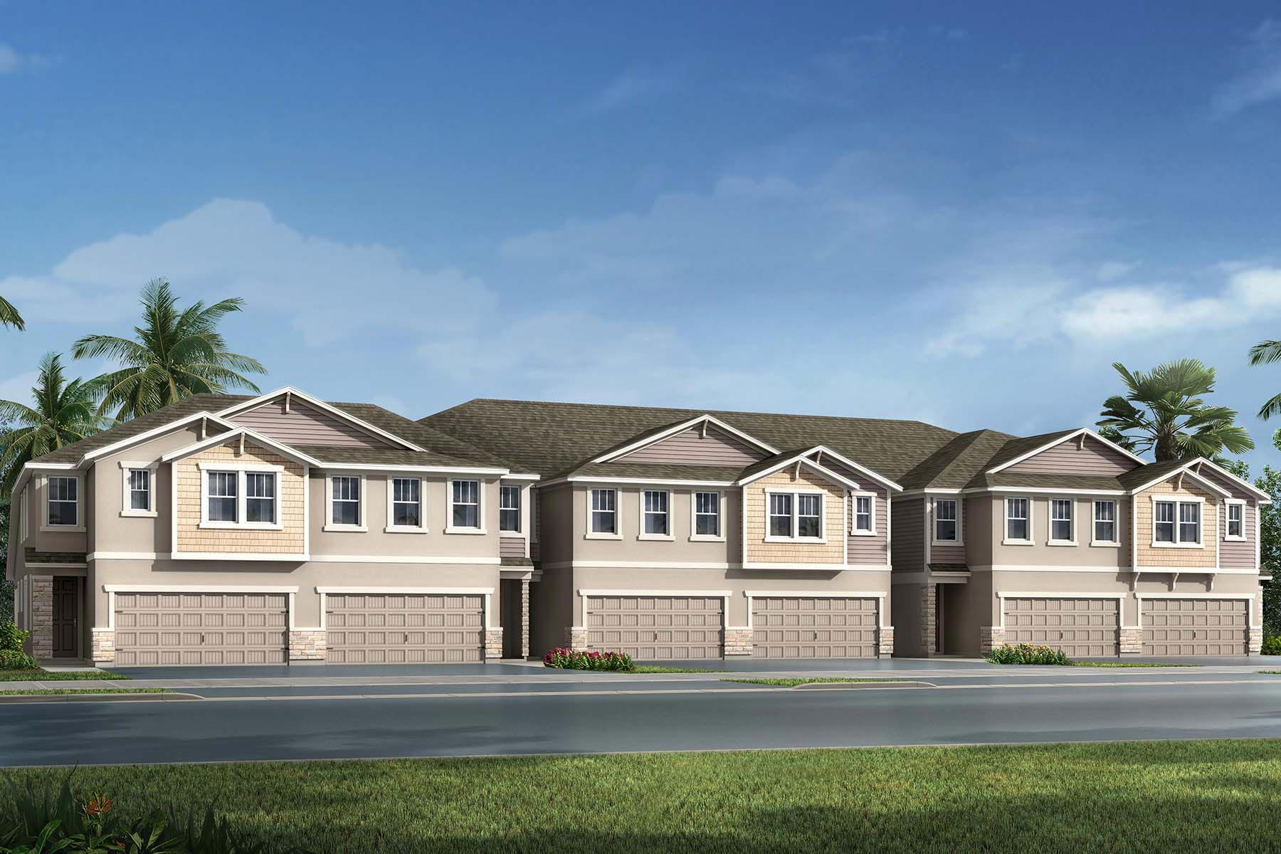 Sebring Plan TownHomes at Avea Pointe in Lutz Florida by Mattamy Homes
