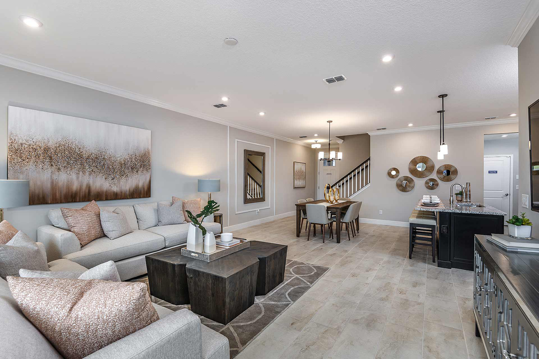 Sebring Plan Greatroom at Avea Pointe in Lutz Florida by Mattamy Homes