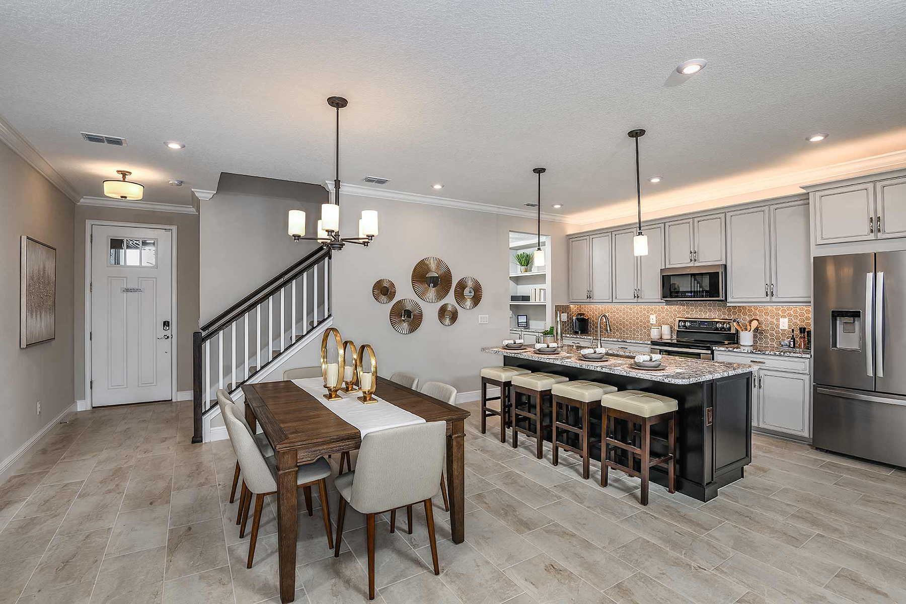 Sebring Plan Kitchen at Avea Pointe in Lutz Florida by Mattamy Homes