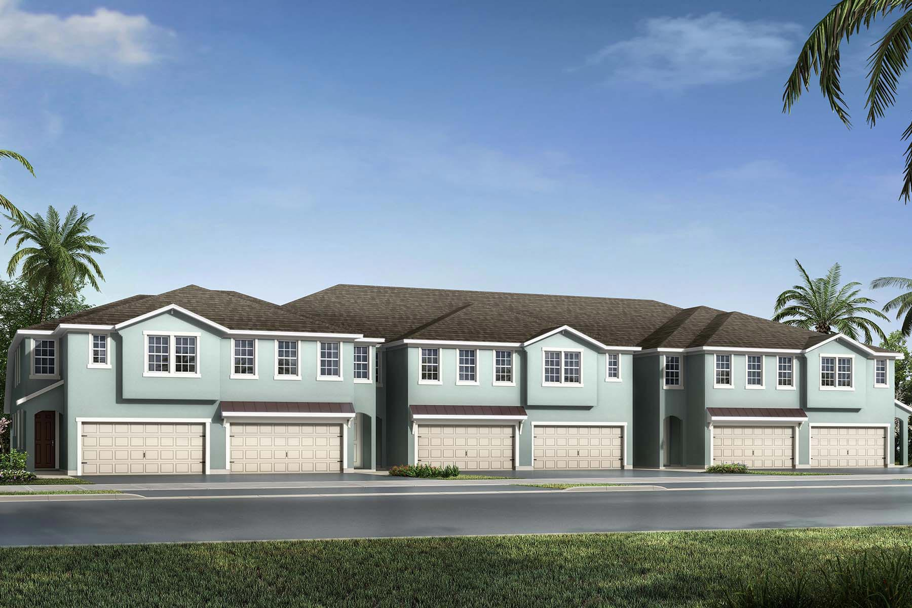 Venice Plan TownHomes at Avea Pointe in Lutz Florida by Mattamy Homes