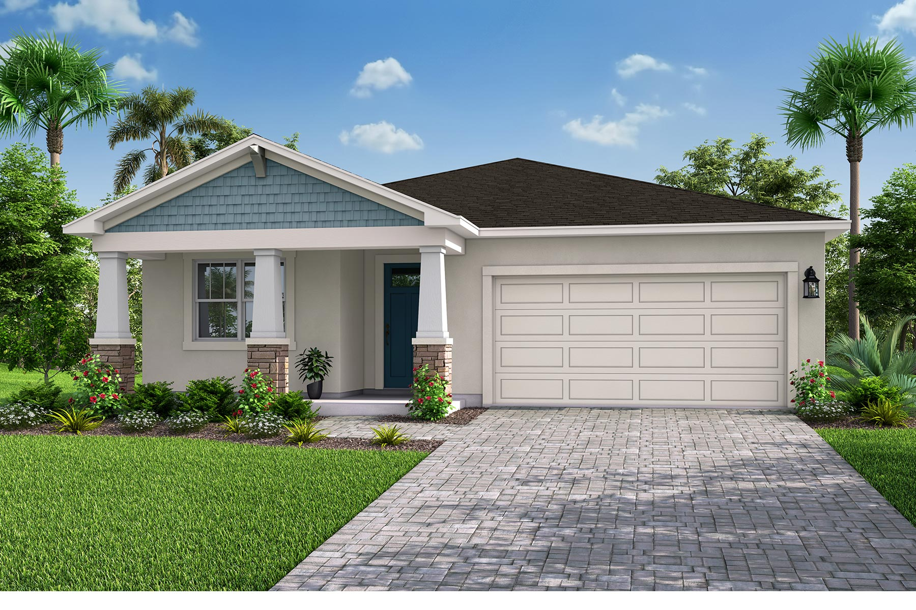 Amelia II Plan Elevation Front at Parkview at Long Lake Ranch in Lutz Florida by Mattamy Homes