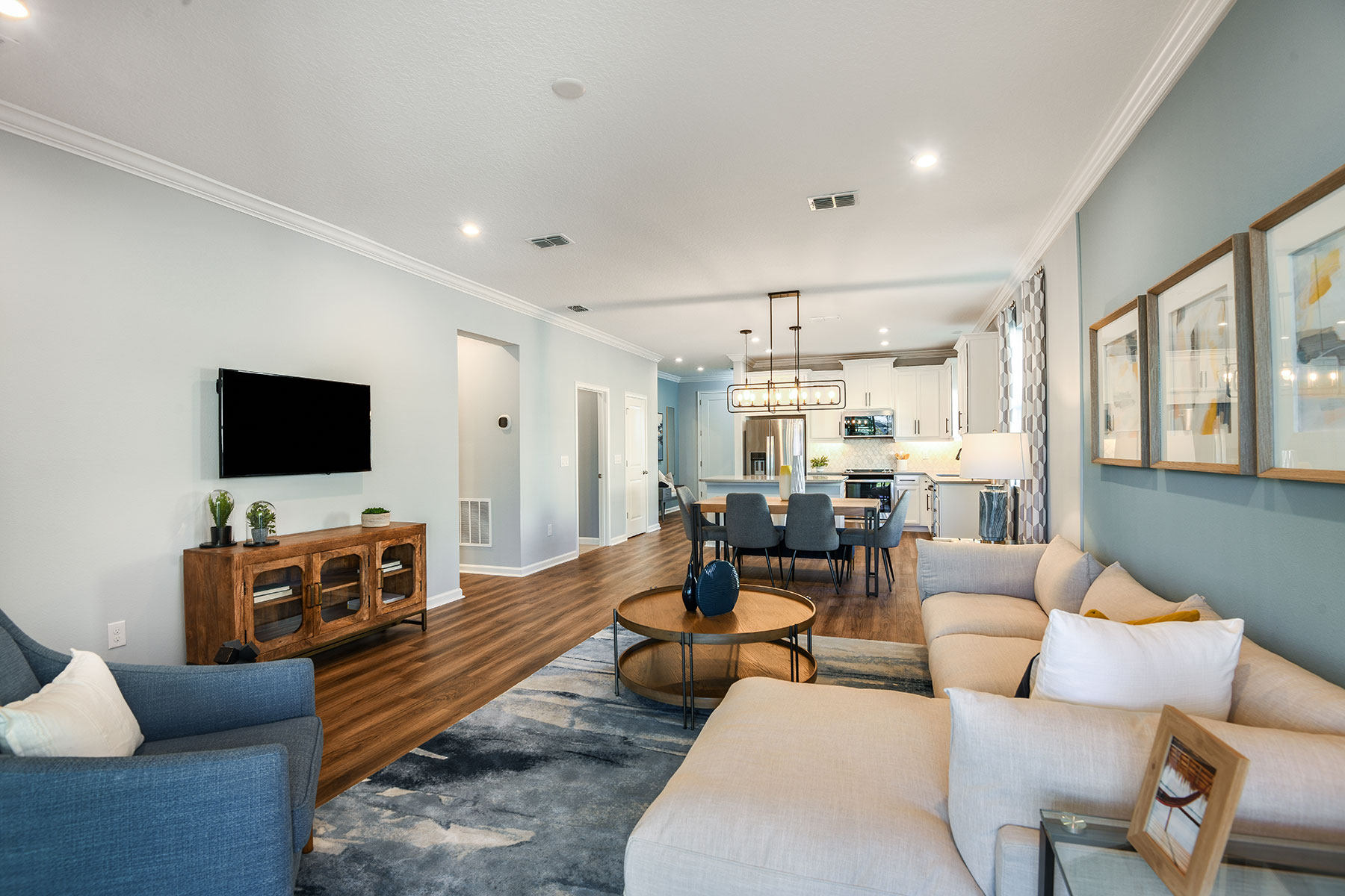 Amelia II Plan Greatroom at Parkview at Long Lake Ranch in Lutz Florida by Mattamy Homes