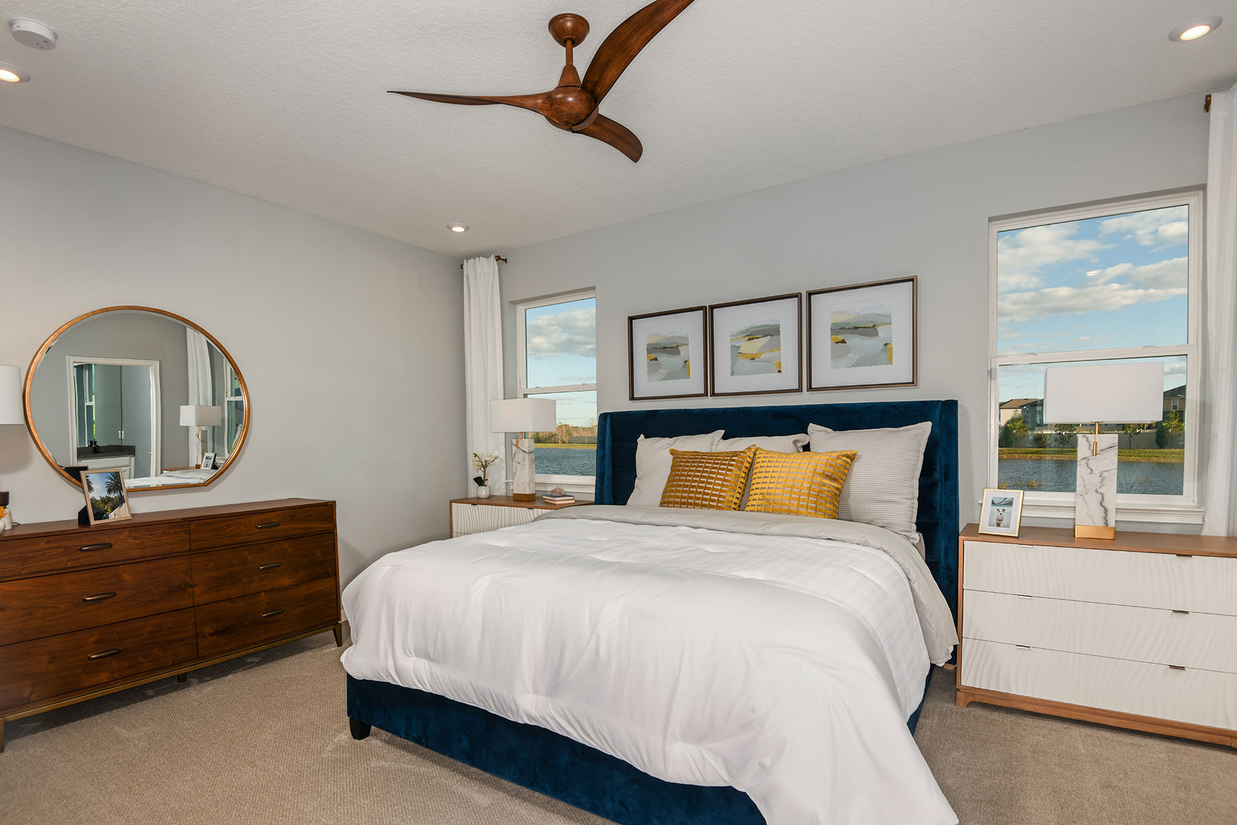 Amelia II Plan Bedroom at Parkview at Long Lake Ranch in Lutz Florida by Mattamy Homes