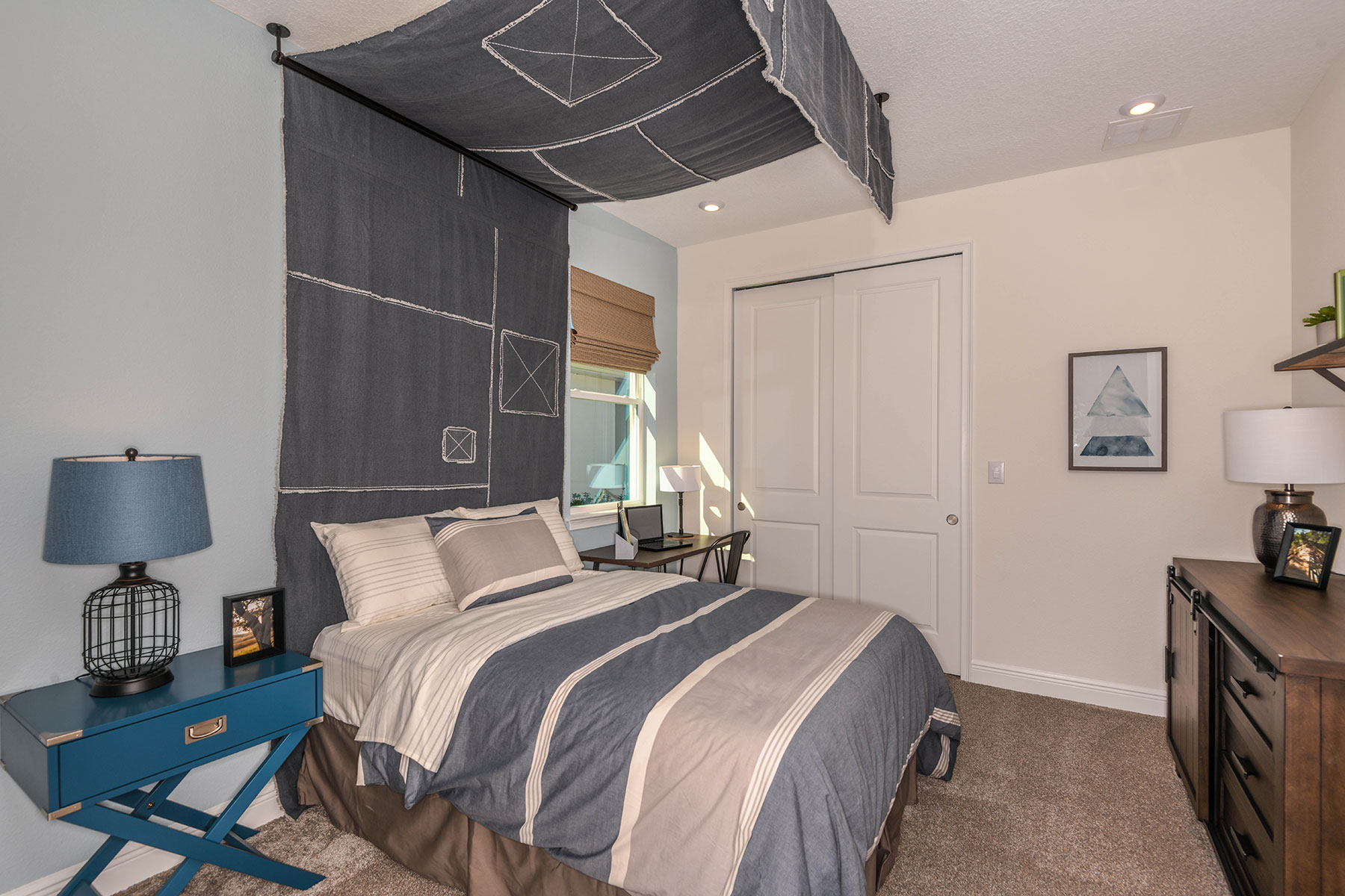 Elm Plan Bedroom at Parkview at Long Lake Ranch in Lutz Florida by Mattamy Homes