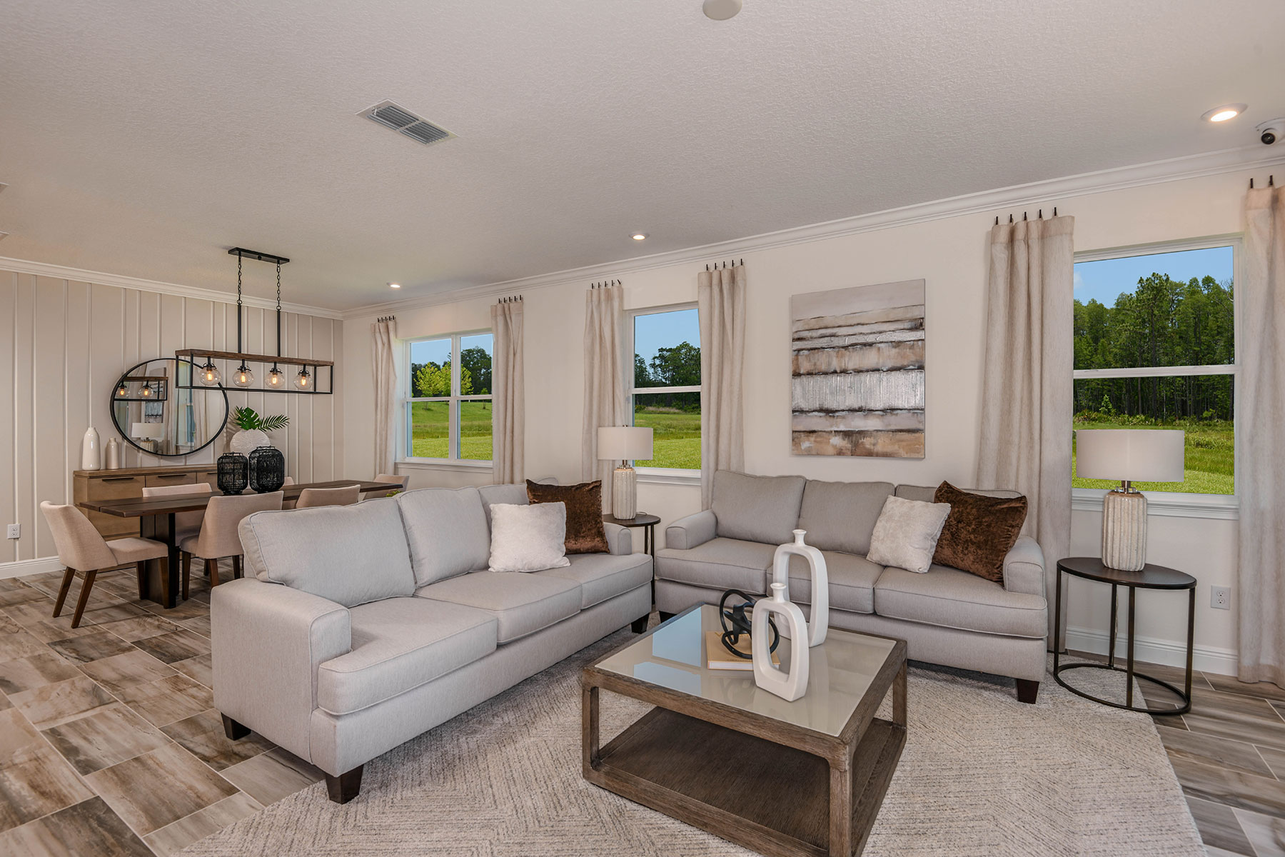 Elm Plan Greatroom at Parkview at Long Lake Ranch in Lutz Florida by Mattamy Homes